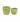 Set of 2 Tremargat Round Ceramic Pots – Green