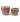 Set of 2 Tremargat Round Ceramic Pots – Vintage Rose